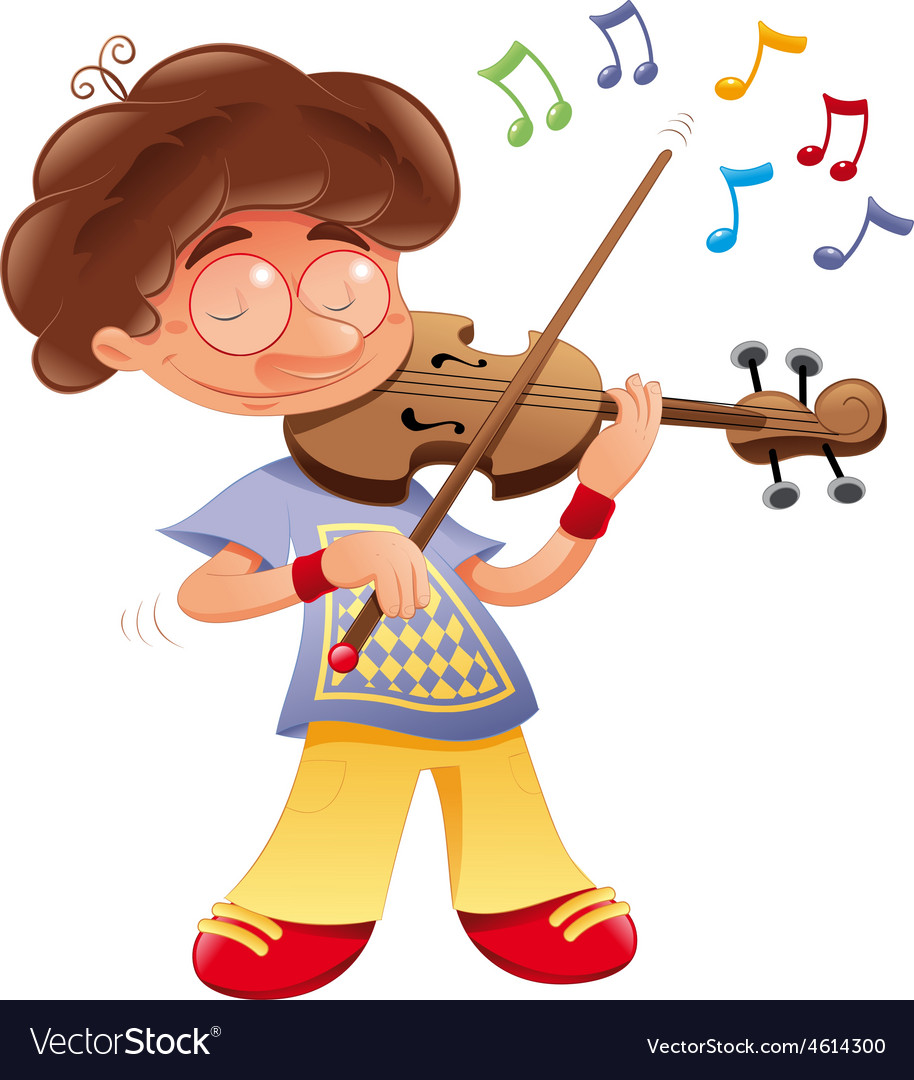 Baby musician vector | Price: 1 Credit (USD $1)