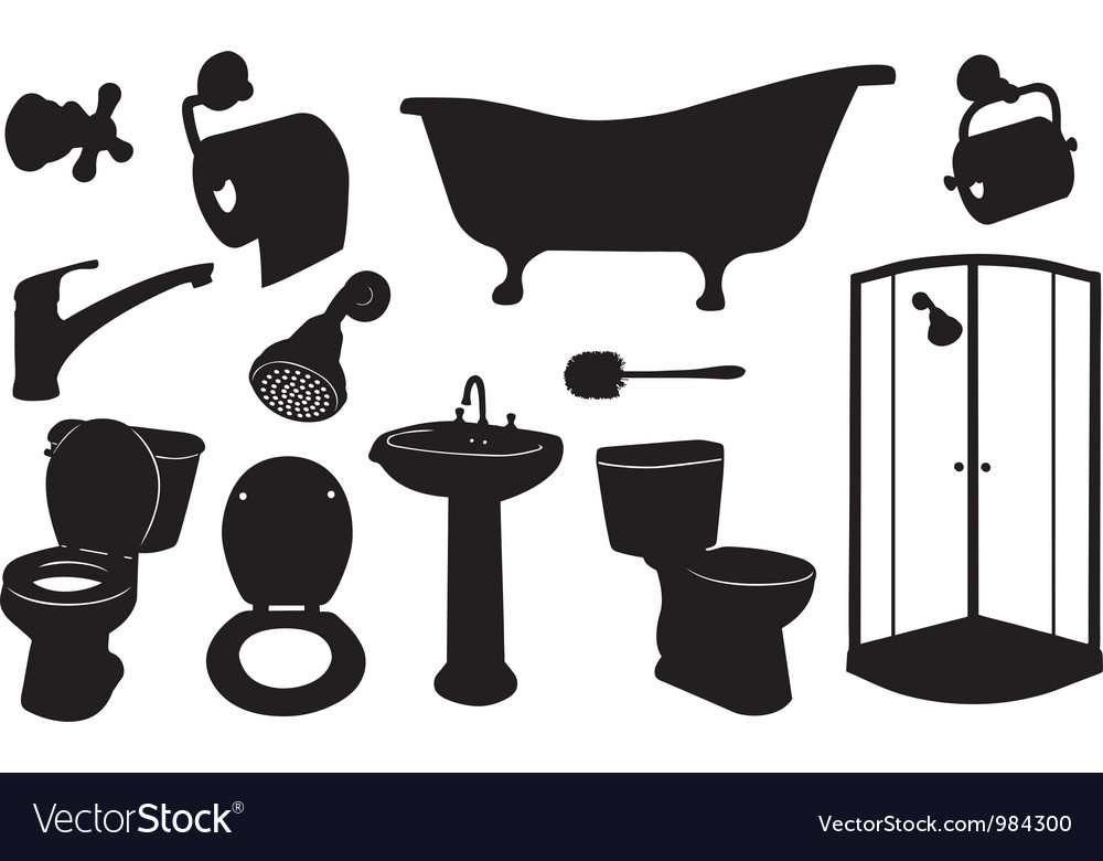 Bathroom set vector | Price: 1 Credit (USD $1)
