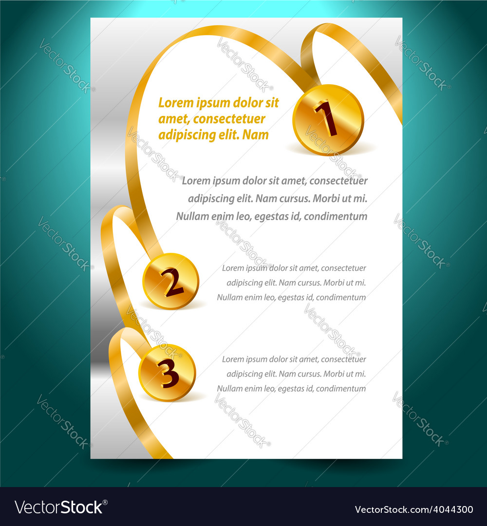 Blank design template certificate ribbon award vector | Price: 1 Credit (USD $1)