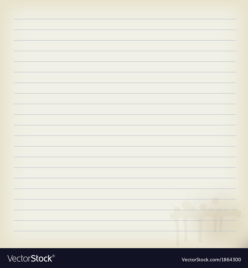Blank sheet of old notebook vector | Price: 1 Credit (USD $1)