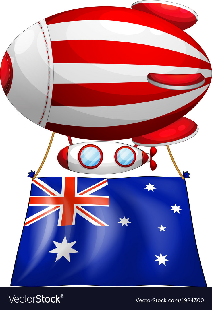 The flag of australia attached to the floating vector | Price: 3 Credit (USD $3)