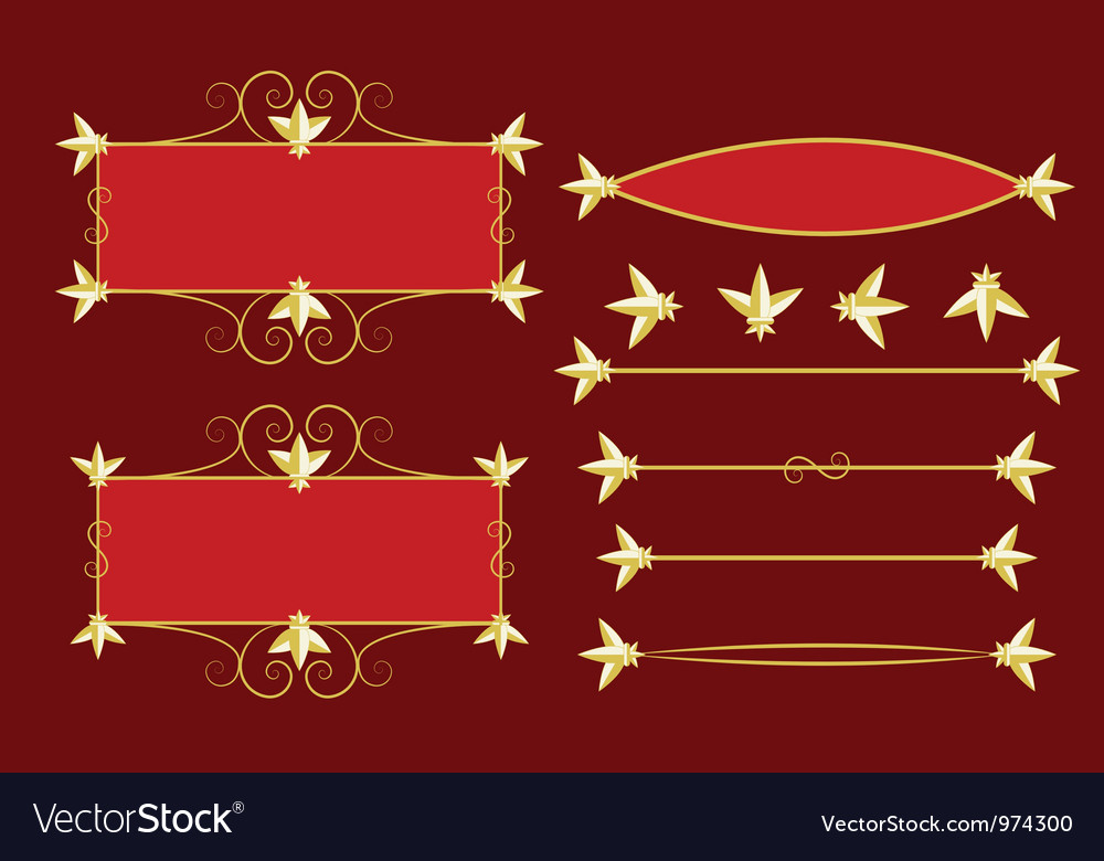 Frames and dividers vector | Price: 1 Credit (USD $1)