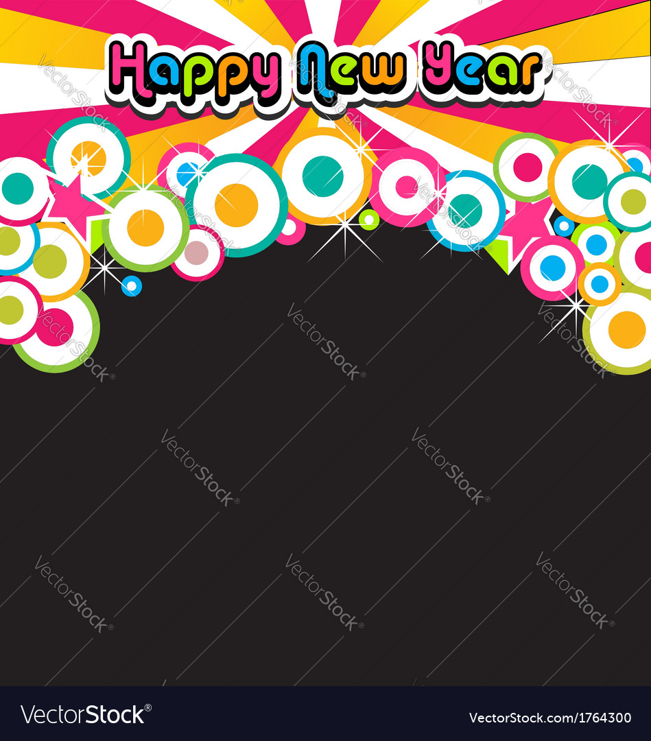 Happy new year banner vector | Price: 1 Credit (USD $1)