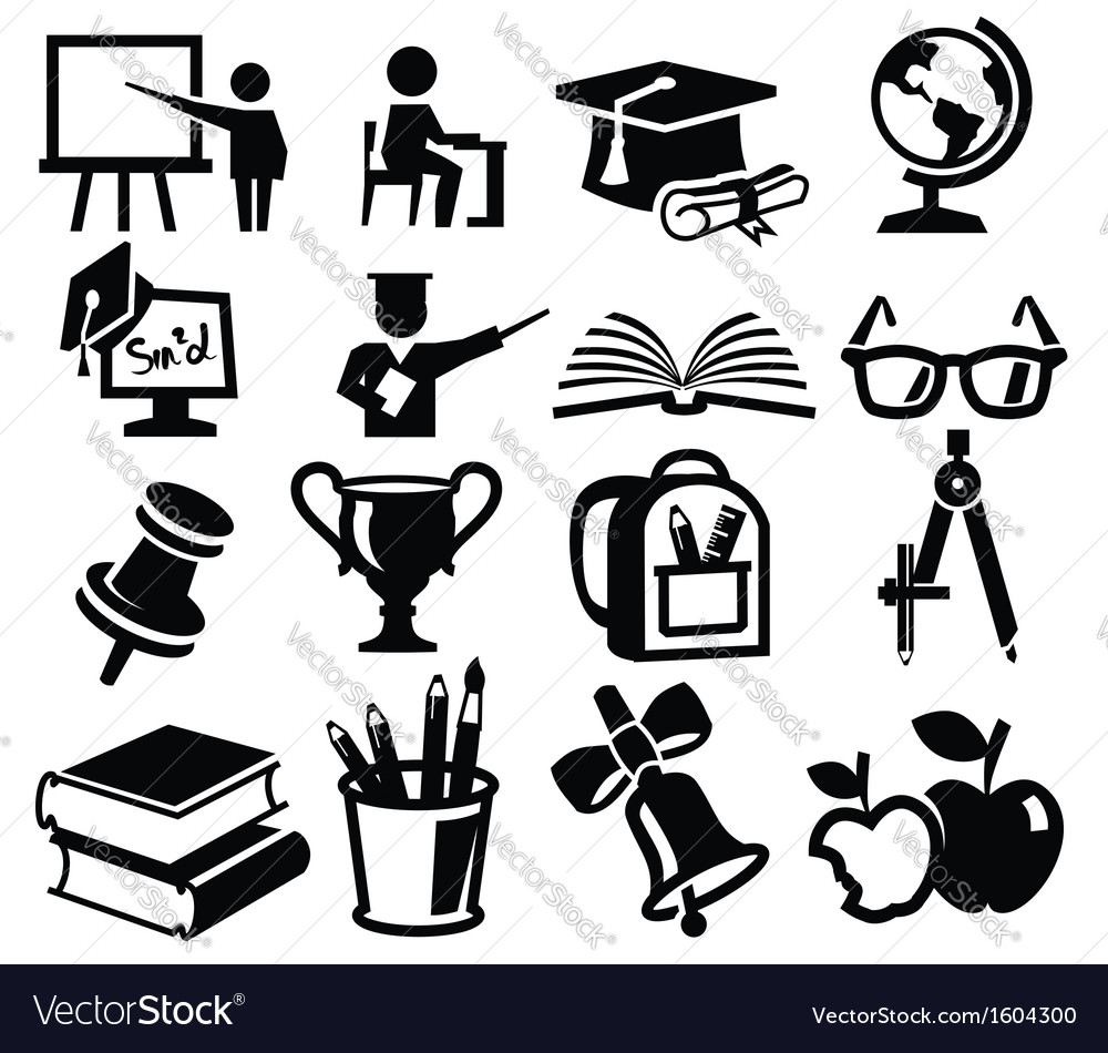 Icons set education vector | Price: 1 Credit (USD $1)