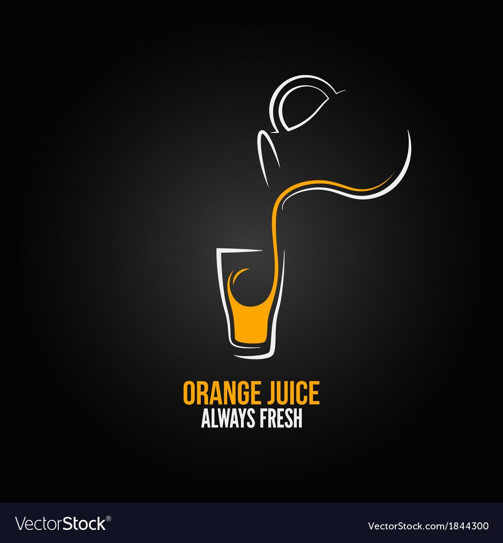 Orange juice glass bottle menu design background vector | Price: 1 Credit (USD $1)