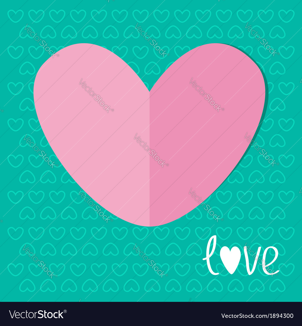 Paper heart on blue background love valentines day vector | Price: 1 Credit (USD $1)
