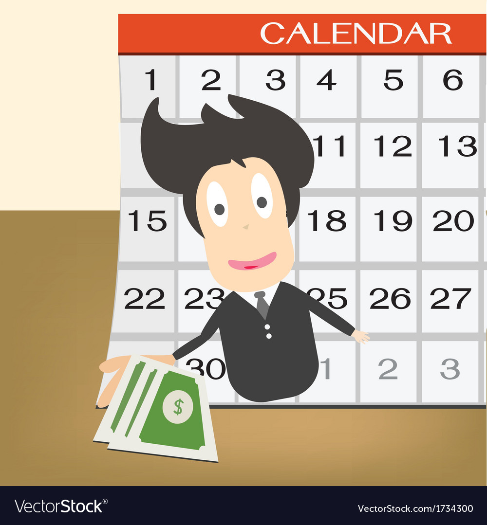 Pay day on calendar idea concept vector | Price: 1 Credit (USD $1)