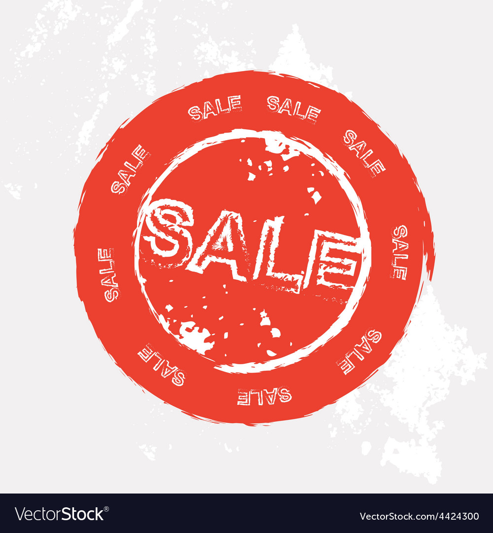 Red sale rubber stamp in format vector | Price: 1 Credit (USD $1)