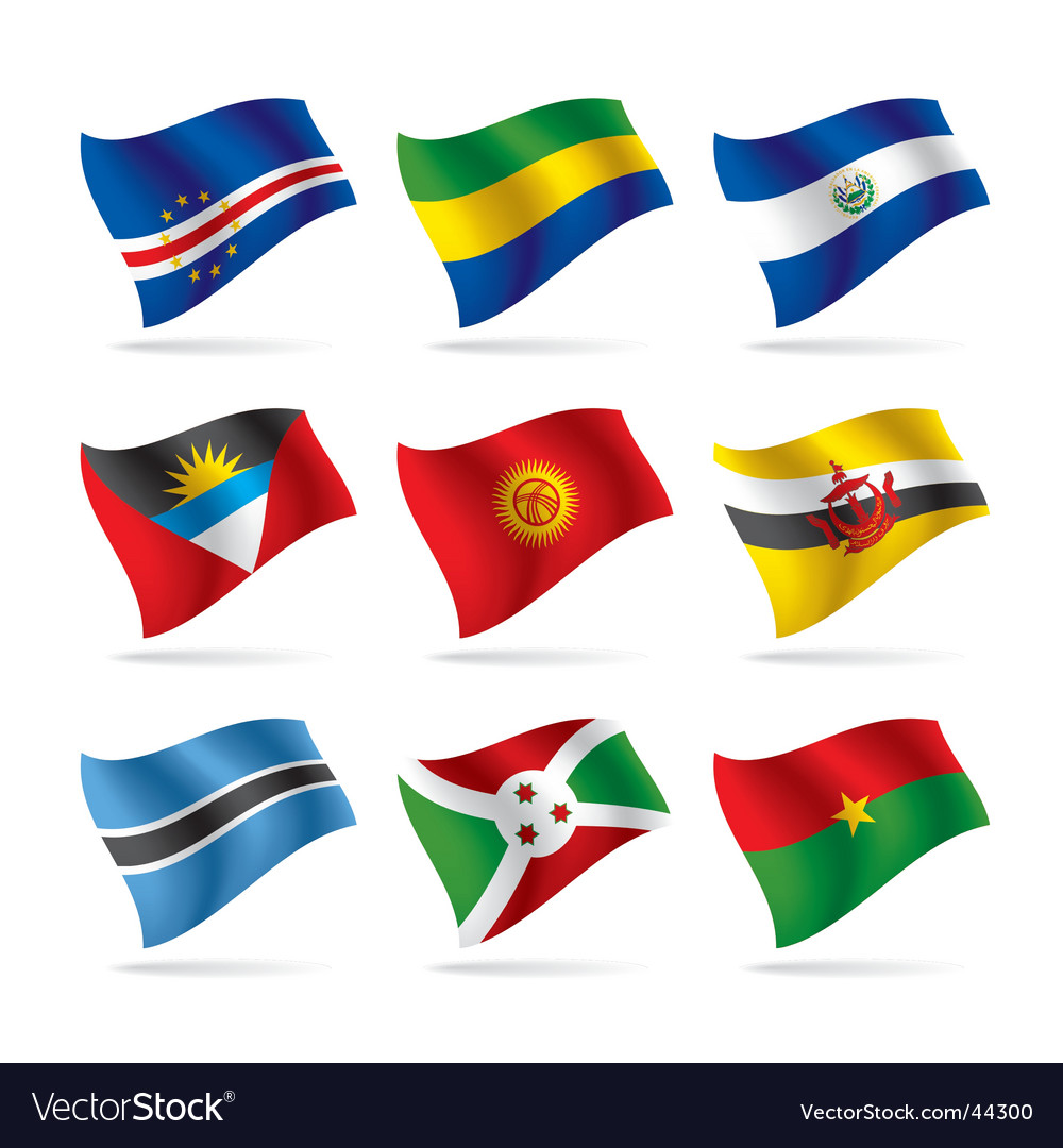 Set of world flags vector | Price: 1 Credit (USD $1)