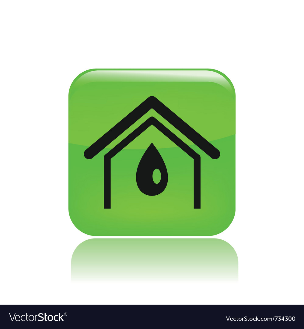Water home icon vector | Price: 1 Credit (USD $1)
