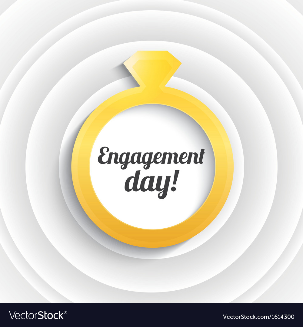 Wedding ring with diamond engagement day vector | Price: 1 Credit (USD $1)