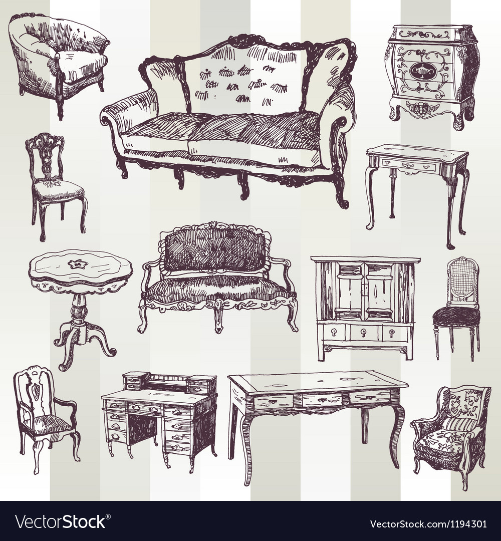 Antique furniture vector | Price: 3 Credit (USD $3)