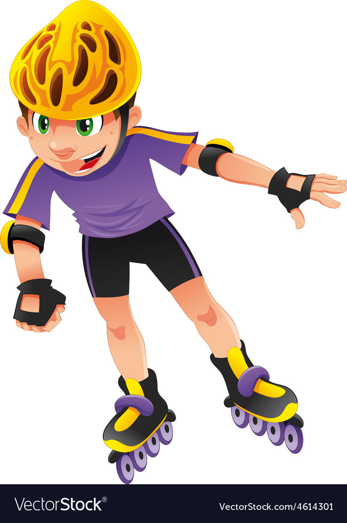 Rollerblade boy vector | Price: 1 Credit (USD $1)