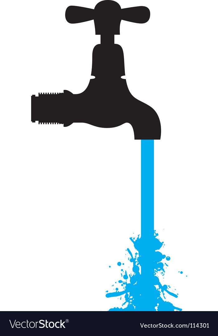 Tap water vector | Price: 1 Credit (USD $1)
