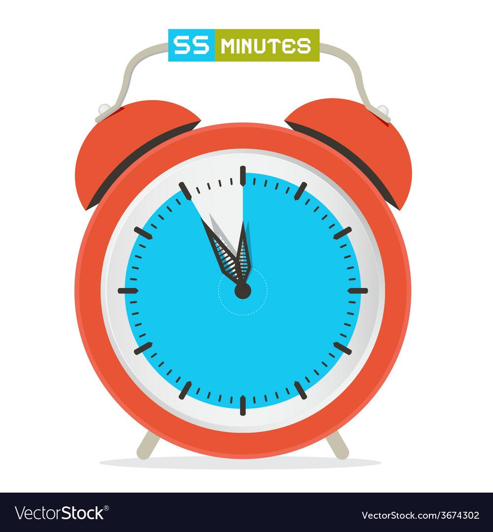 55 - fifty five minutes stop watch - alarm clock vector | Price: 1 Credit (USD $1)