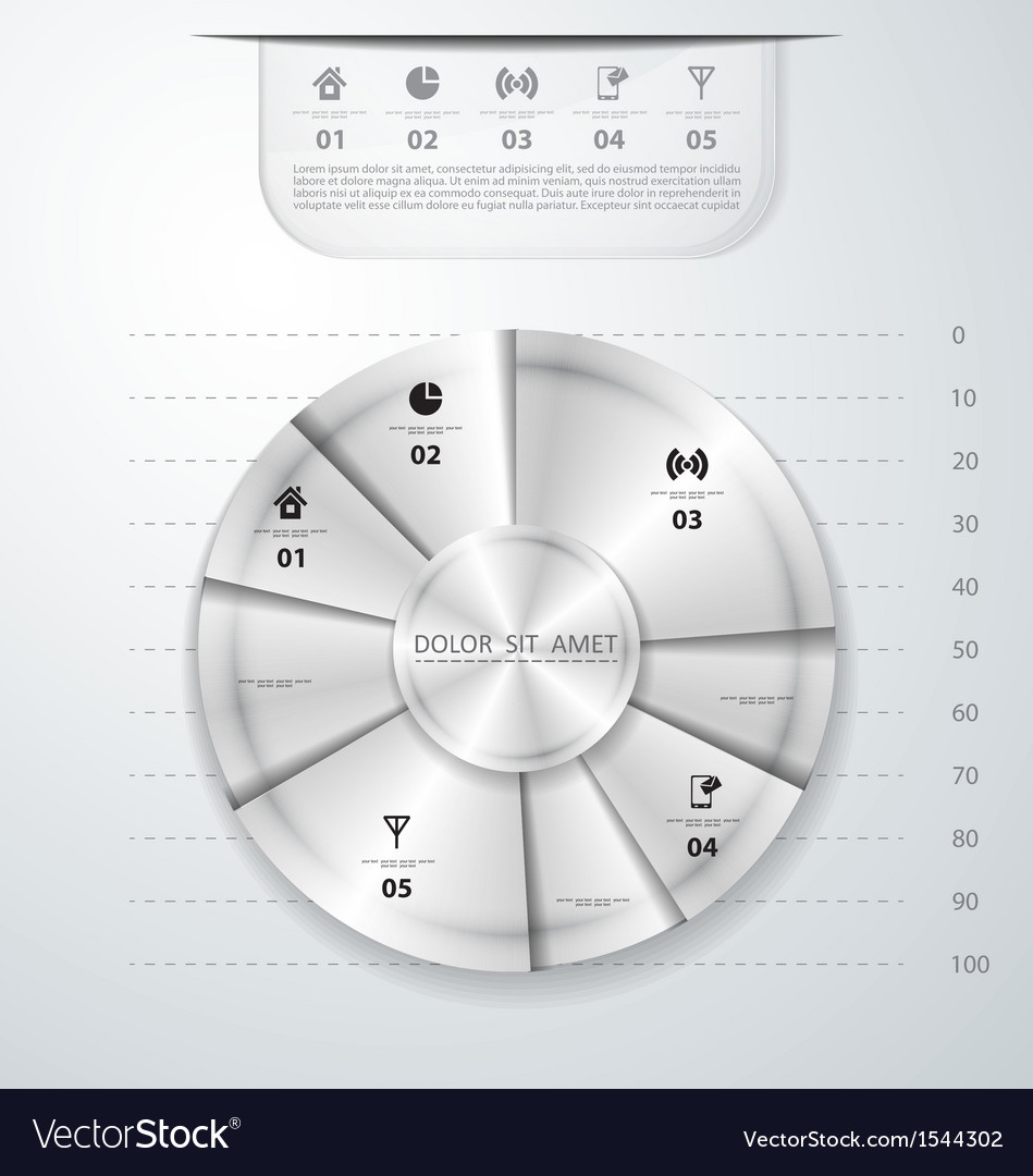 Abstract metal infographics vector | Price: 1 Credit (USD $1)