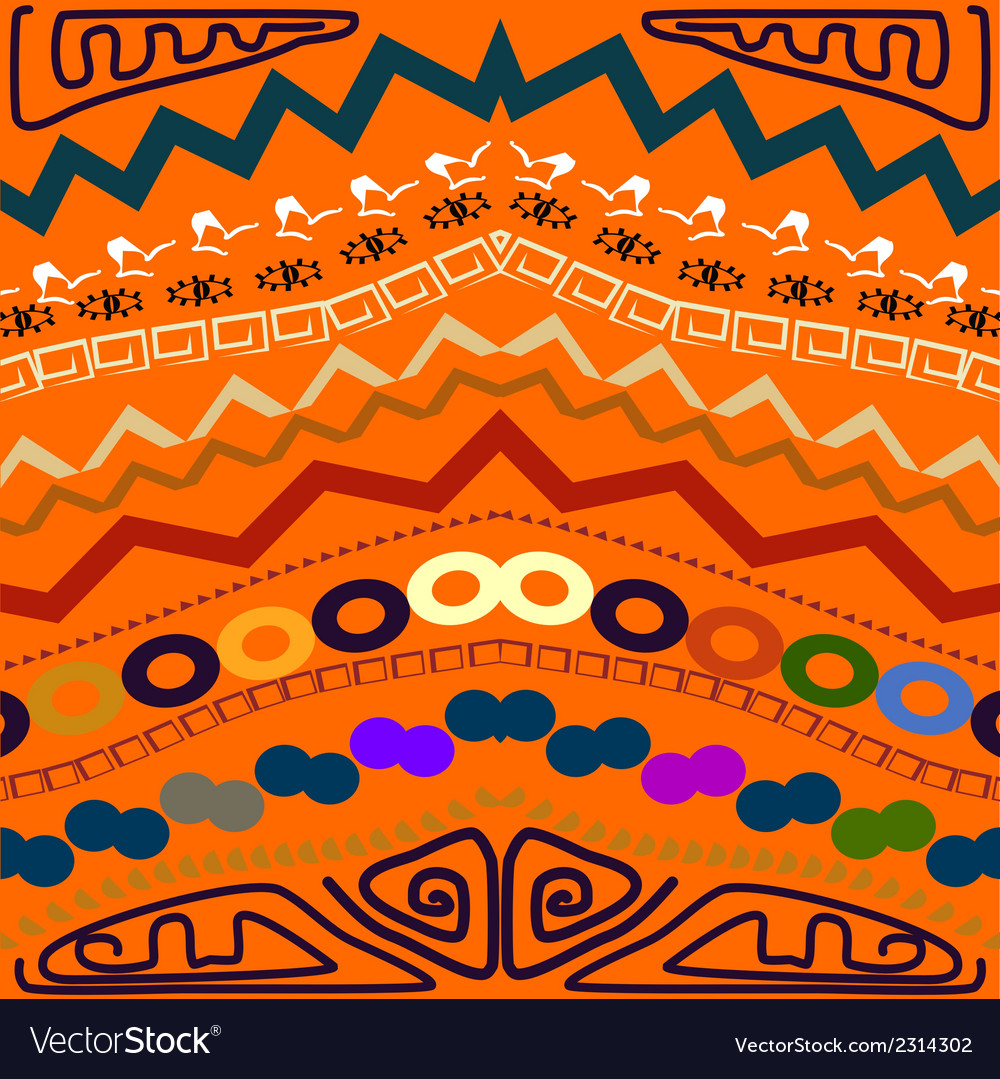 Abstract seamless pattern in the tribal style vector | Price: 1 Credit (USD $1)