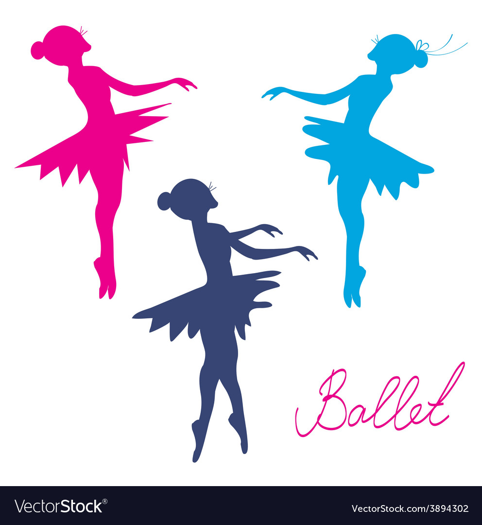 Ballerina silhoette set vector | Price: 1 Credit (USD $1)