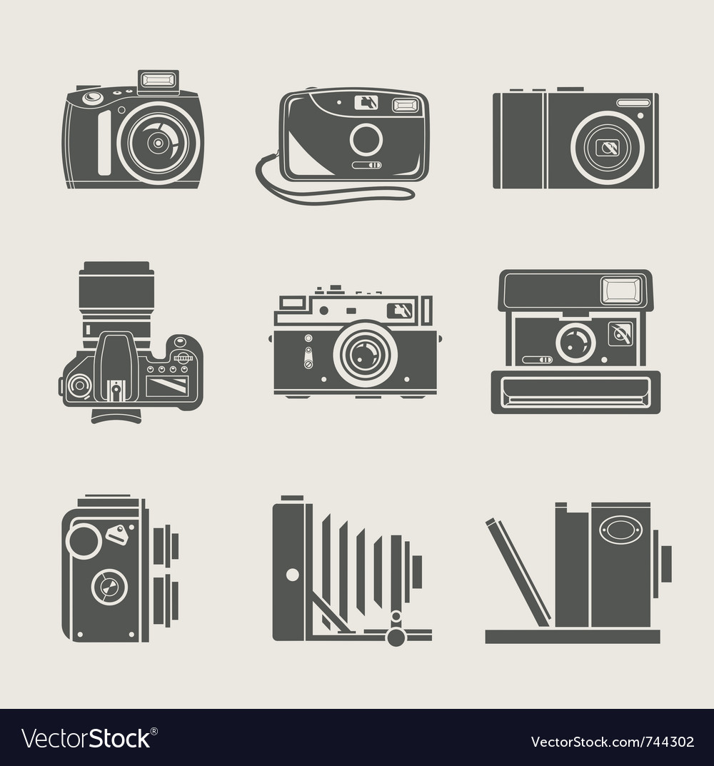 Camera new and retro icon vector | Price: 1 Credit (USD $1)