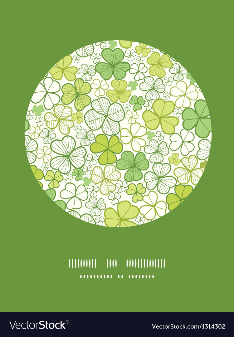 Clover line art circle decor pattern background vector | Price: 1 Credit (USD $1)