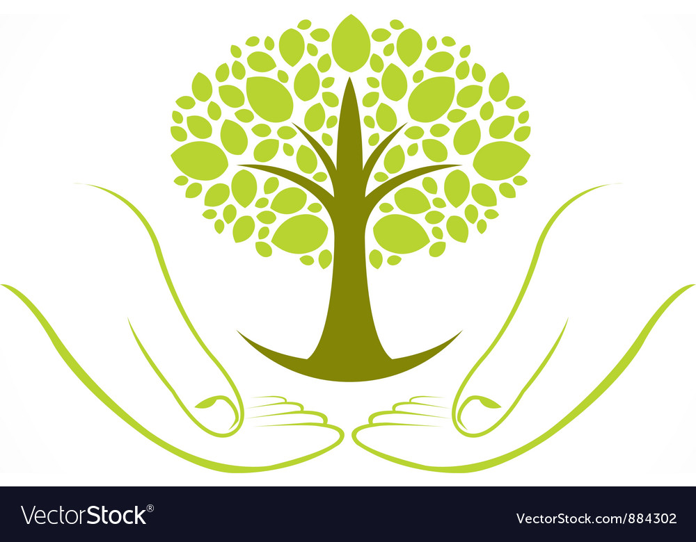 Green wellness tree vector | Price: 1 Credit (USD $1)