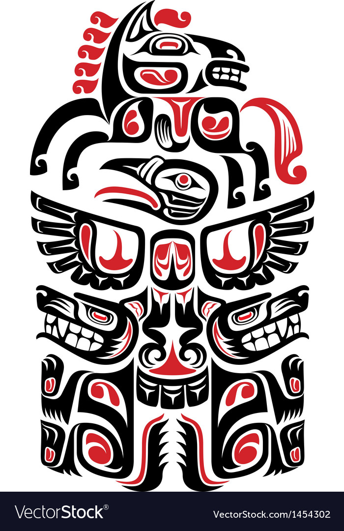 Haida style tattoo design vector | Price: 1 Credit (USD $1)