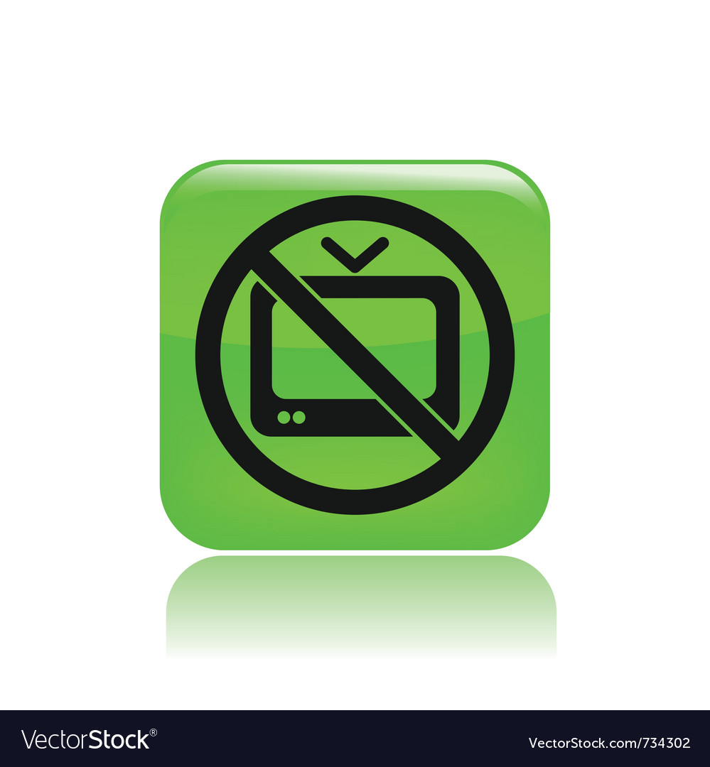 No tv icon vector | Price: 1 Credit (USD $1)