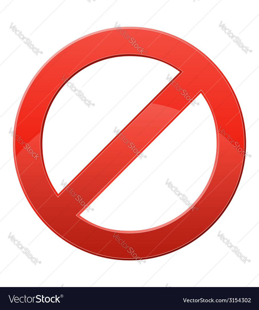 Prohibitory sign vector   Price: 1 Credit (USD $1)