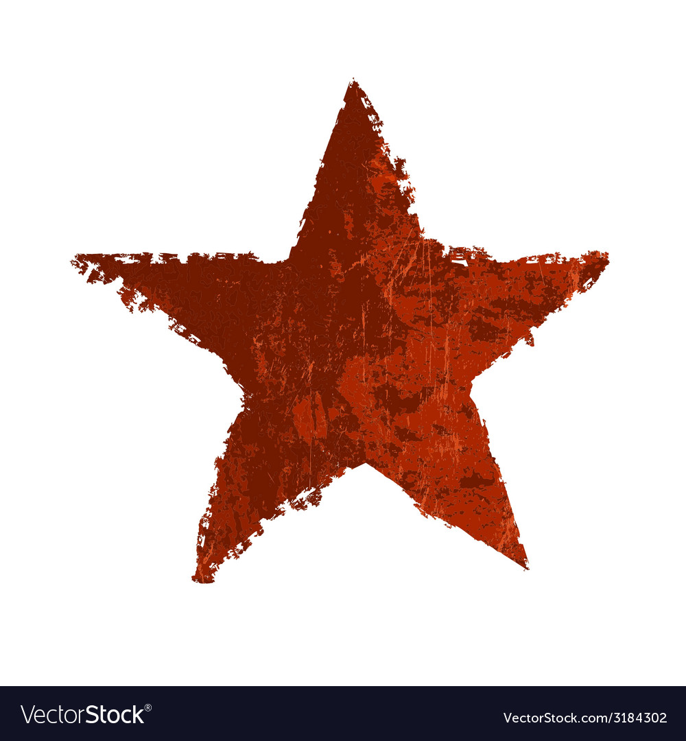 Red star symbol grunge vector | Price: 1 Credit (USD $1)