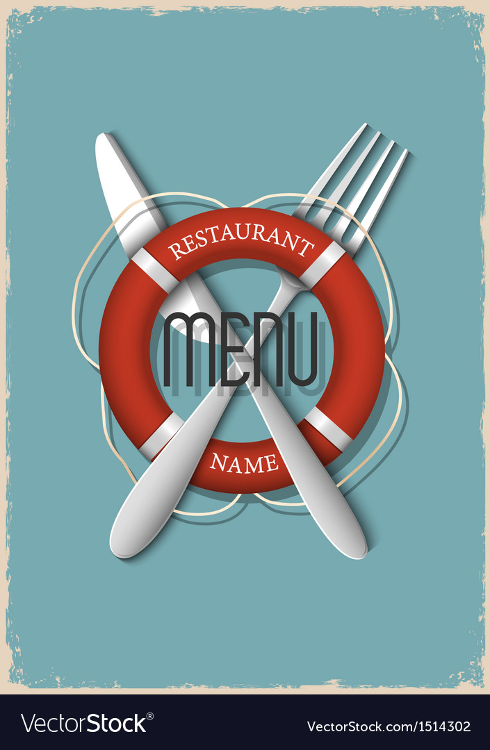 Retro menu design for seafood restaurant variation vector | Price: 1 Credit (USD $1)