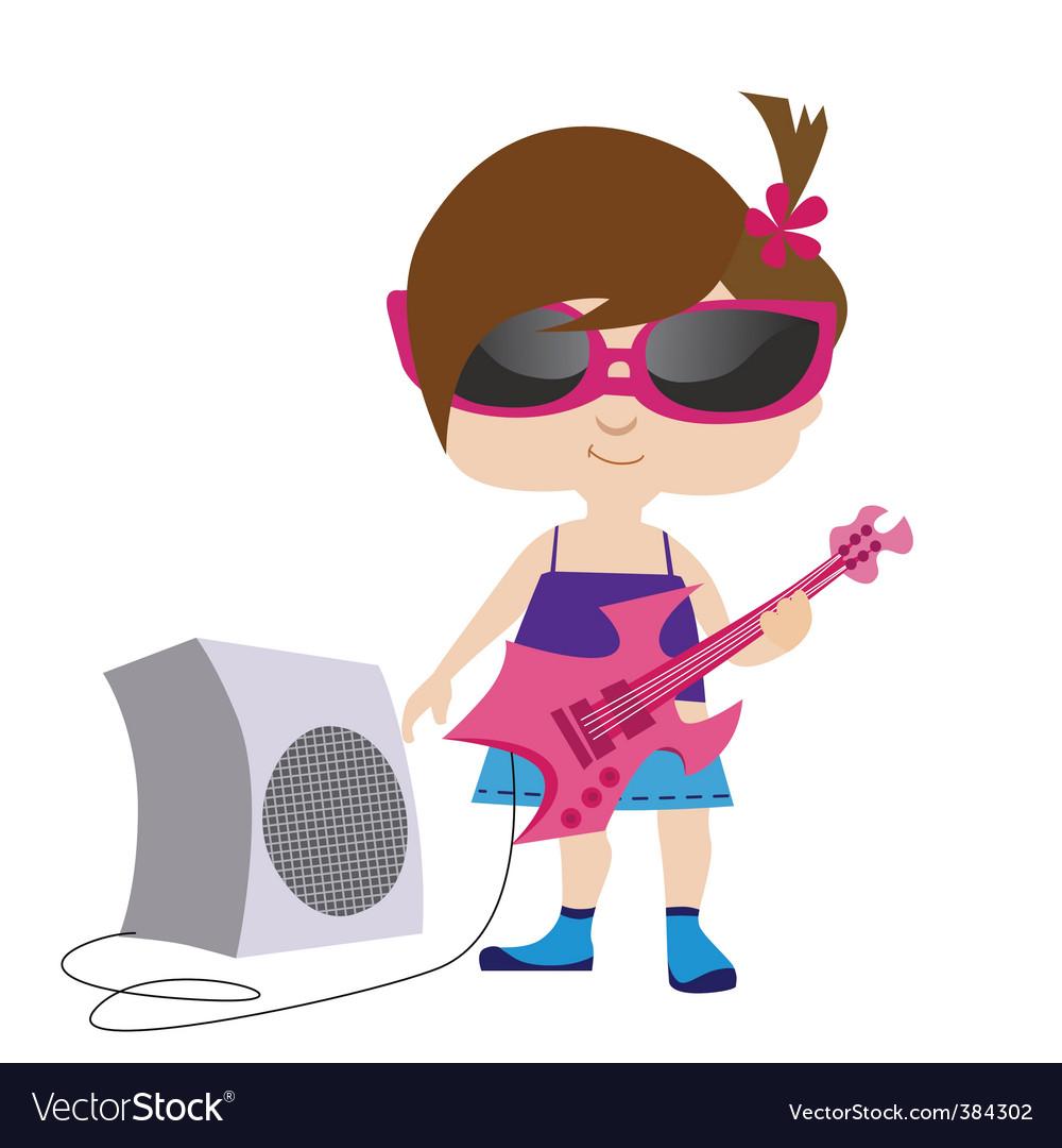 Rock girl vector   Price: 1 Credit (USD $1)