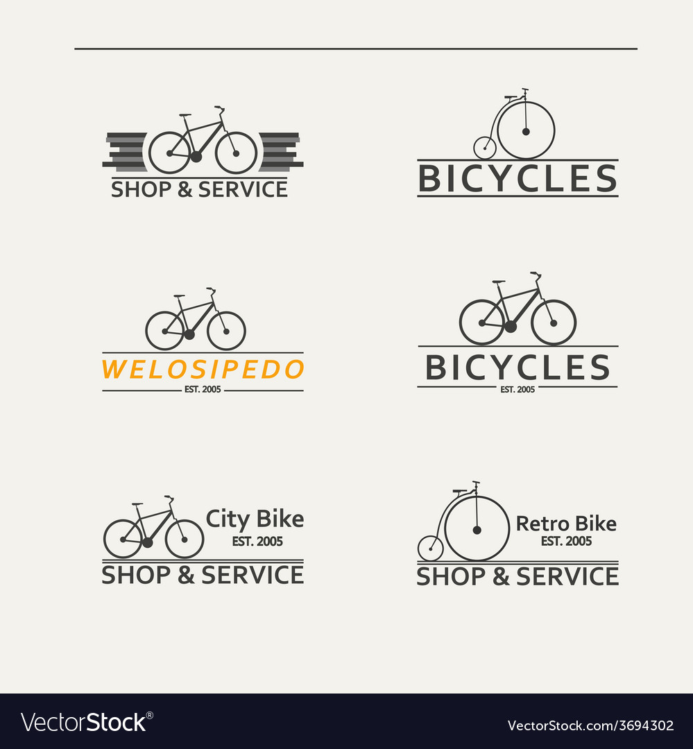 Set of simple logos for bicycles vector   Price: 1 Credit (USD $1)