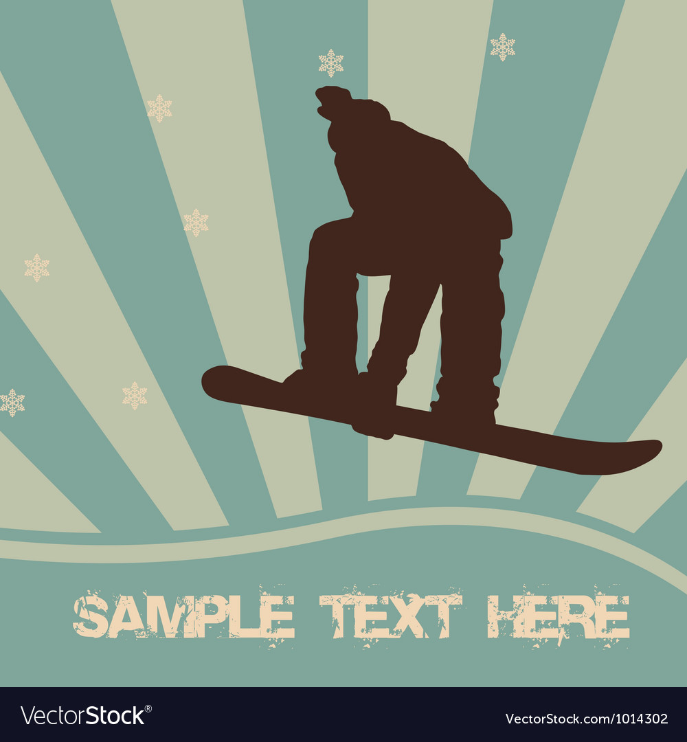 Snowboarding vector | Price: 1 Credit (USD $1)