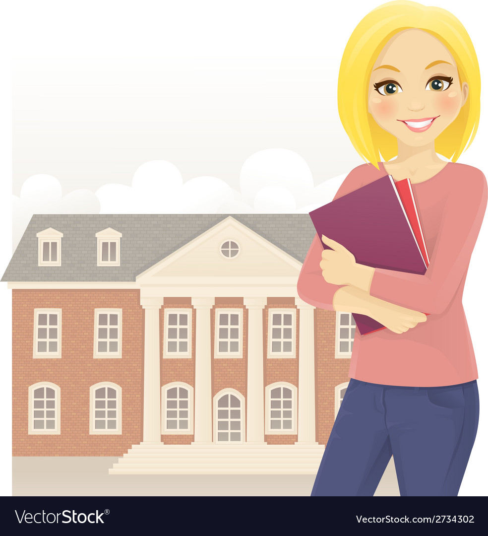 Student with books vector | Price: 1 Credit (USD $1)