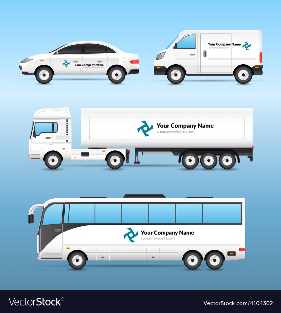 Transport advertisement set vector | Price: 1 Credit (USD $1)