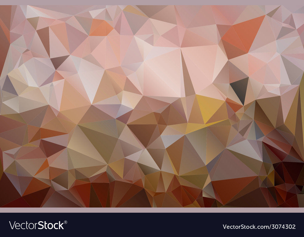 Triangles background in shades of brown color vector | Price: 1 Credit (USD $1)