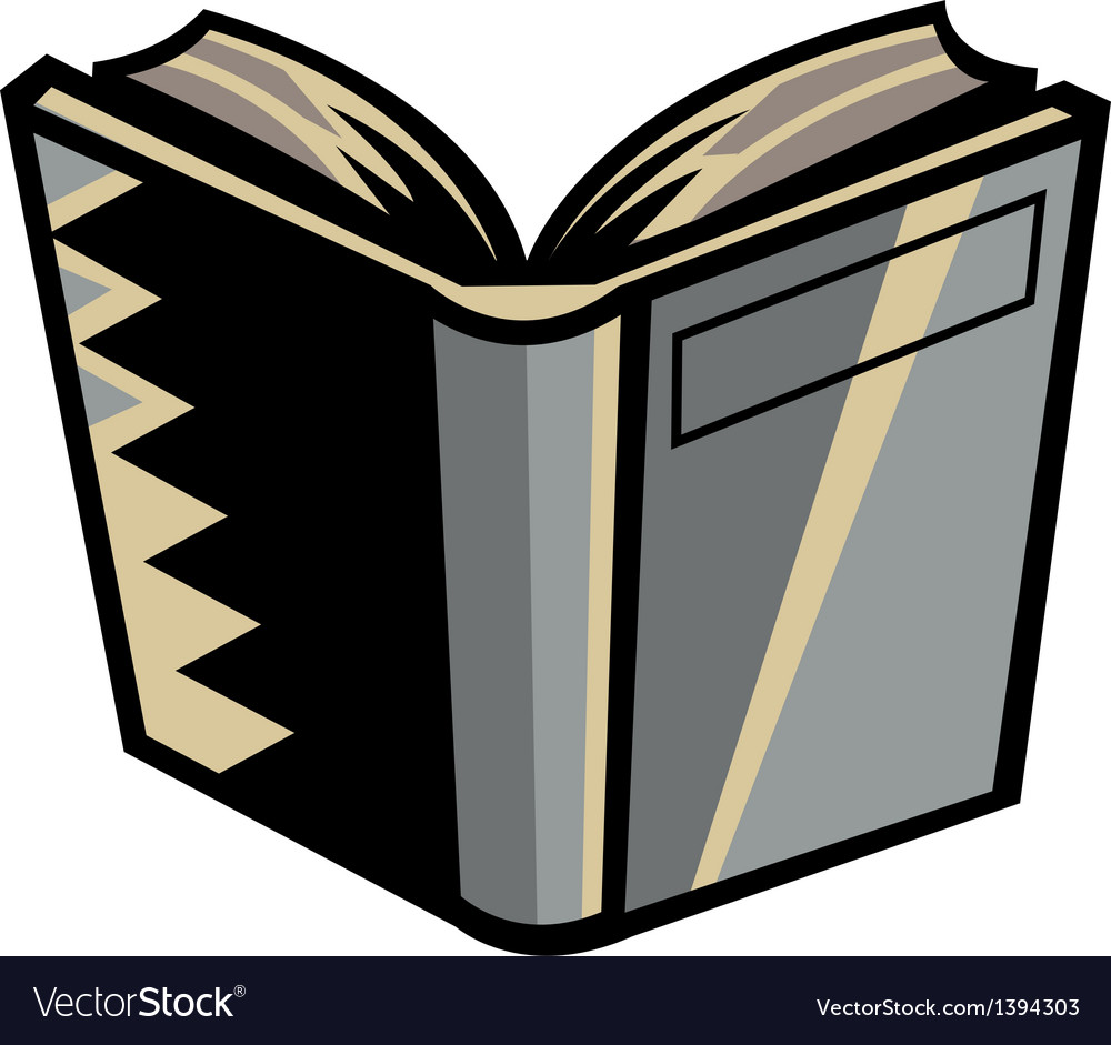A book is placed vector | Price: 1 Credit (USD $1)
