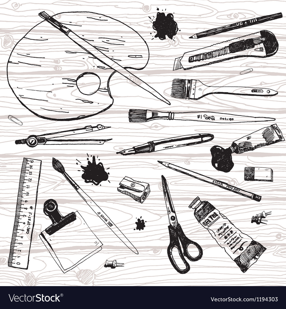 Artist stuff vector | Price: 3 Credit (USD $3)