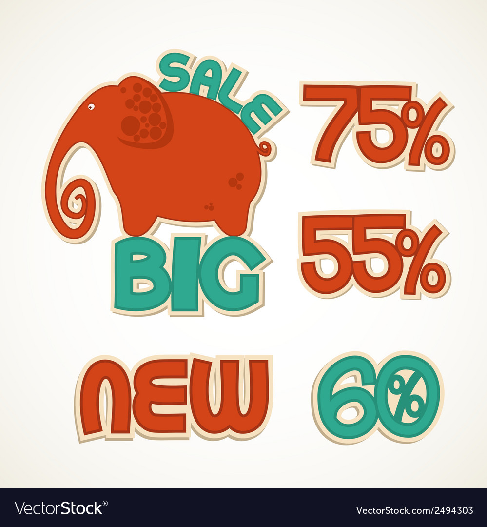Badges big discounts vector | Price: 1 Credit (USD $1)