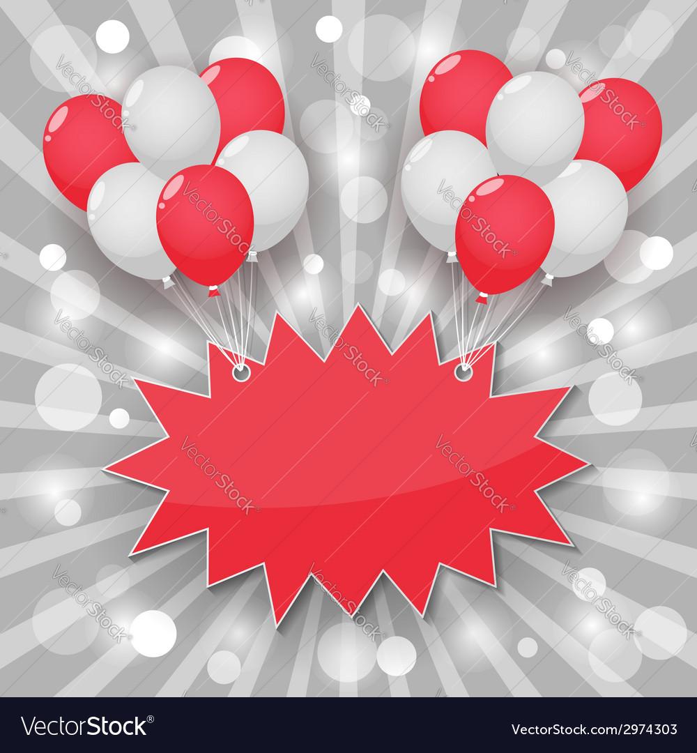 Balloon starburst background vector | Price: 1 Credit (USD $1)