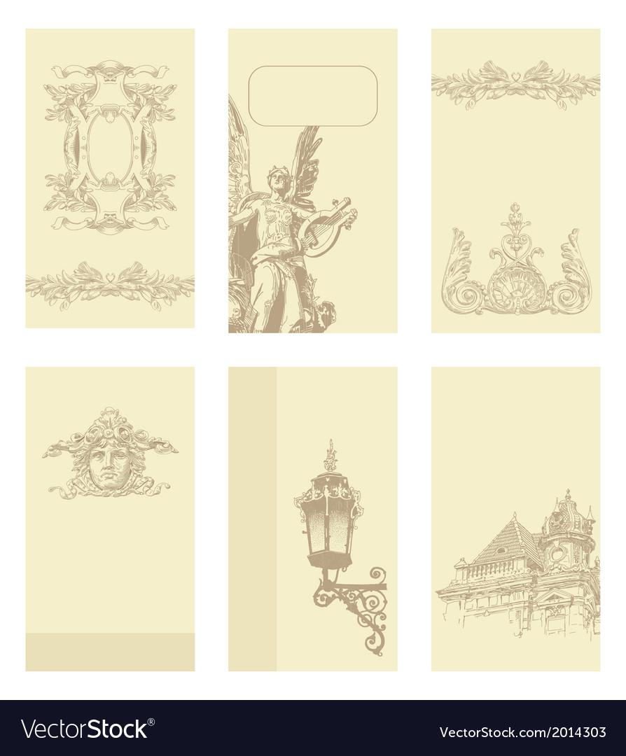 Classical vintage old frame card design vector | Price: 1 Credit (USD $1)