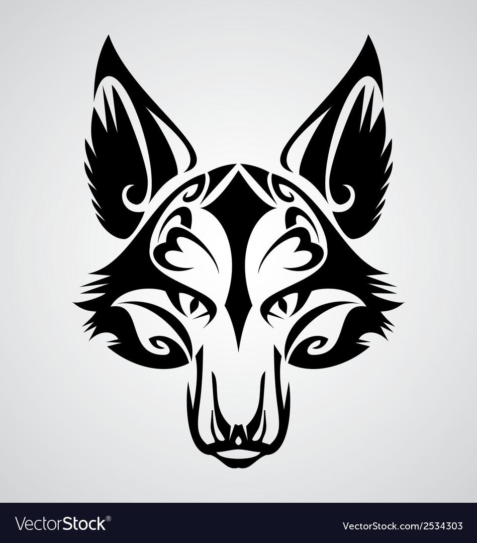 Fox head tattoo vector | Price: 1 Credit (USD $1)