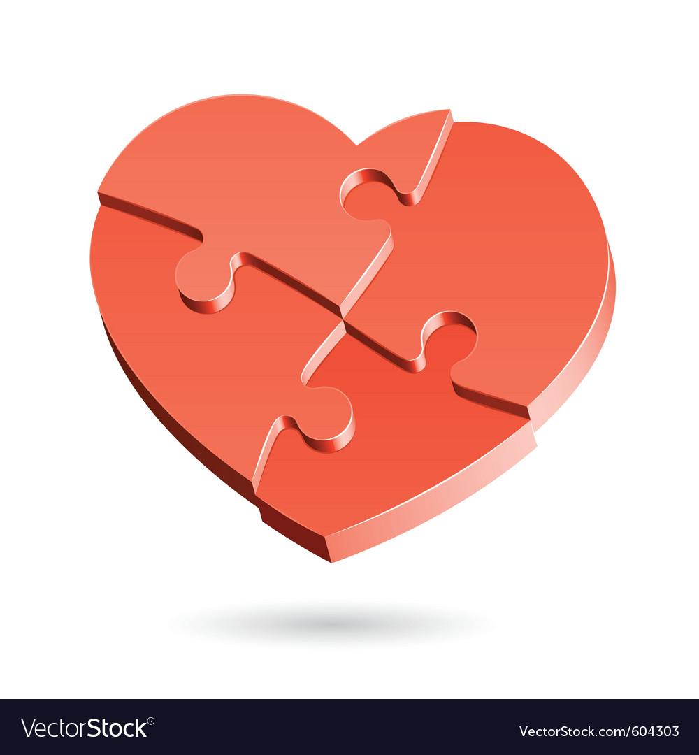 Heart puzzle vector | Price: 1 Credit (USD $1)