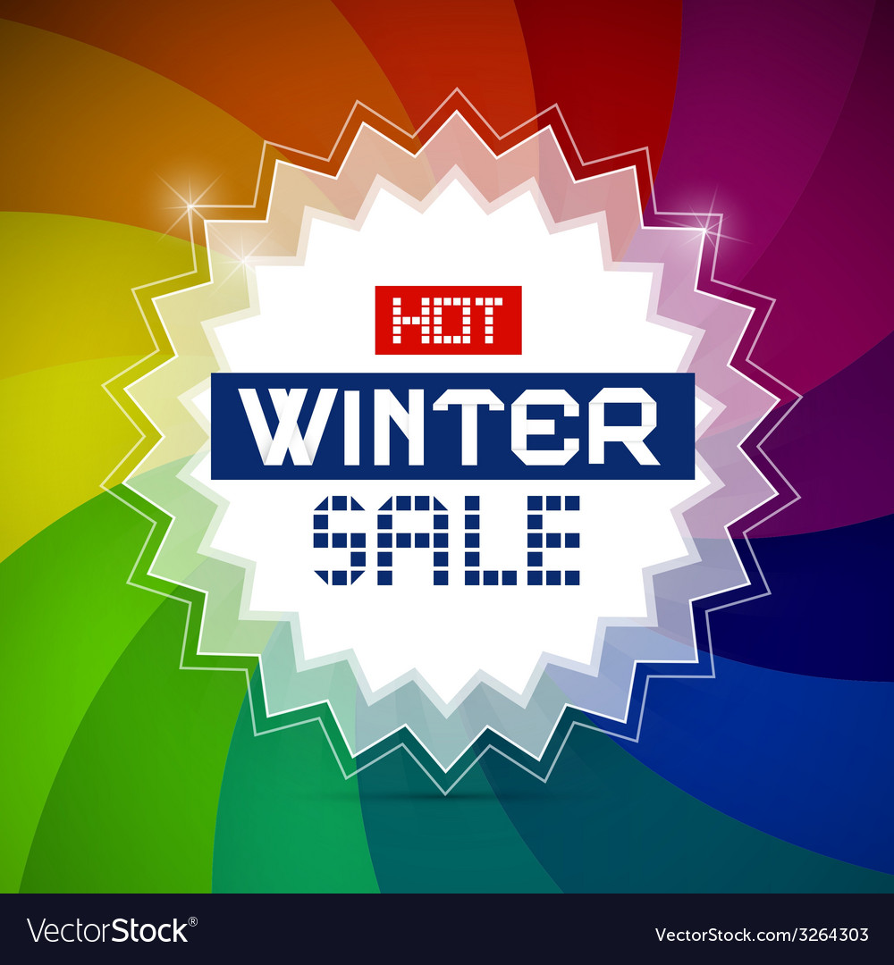 Hot winter sale retro vector | Price: 1 Credit (USD $1)