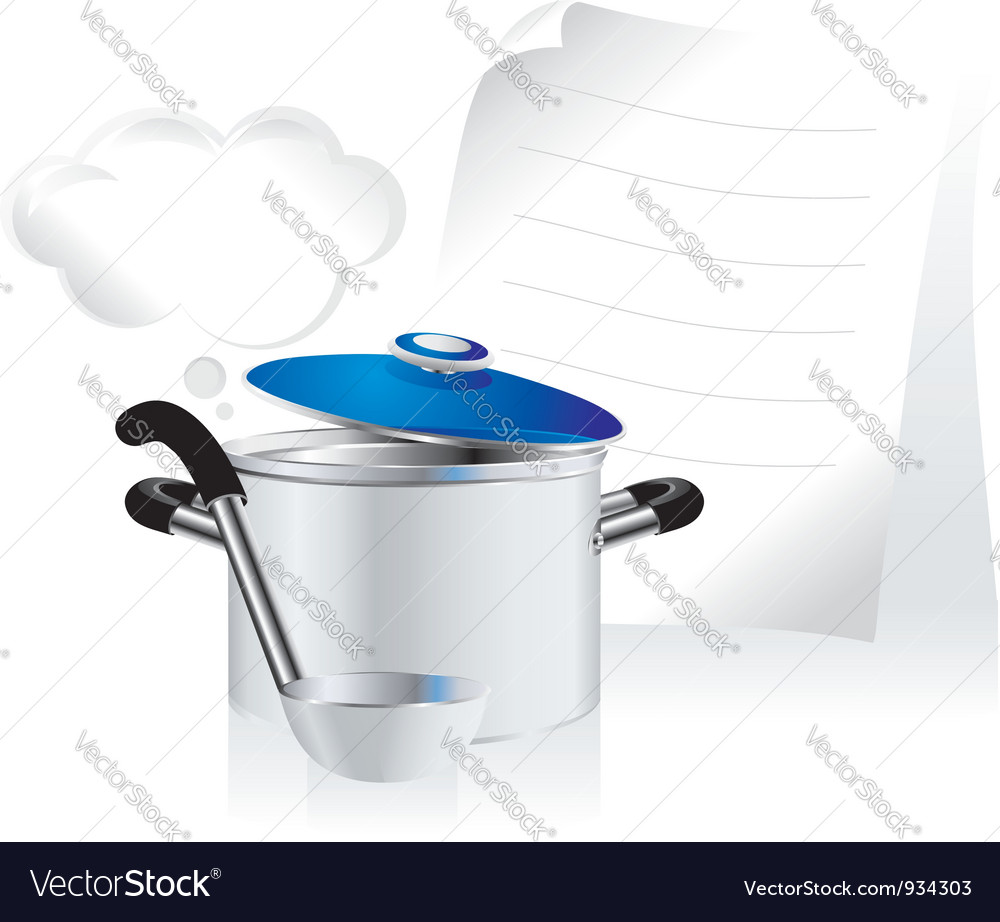 Metallic pan vector | Price: 1 Credit (USD $1)