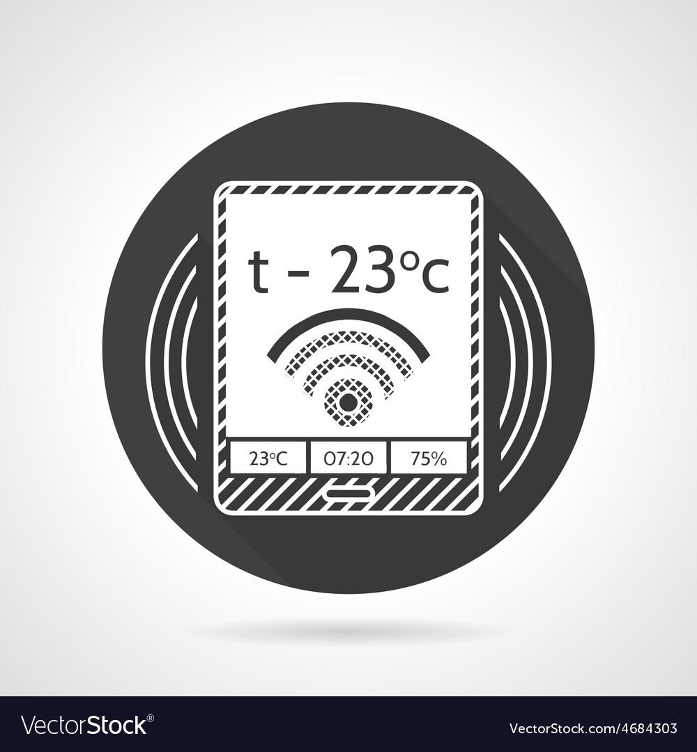 Thermostat black round icon vector | Price: 1 Credit (USD $1)