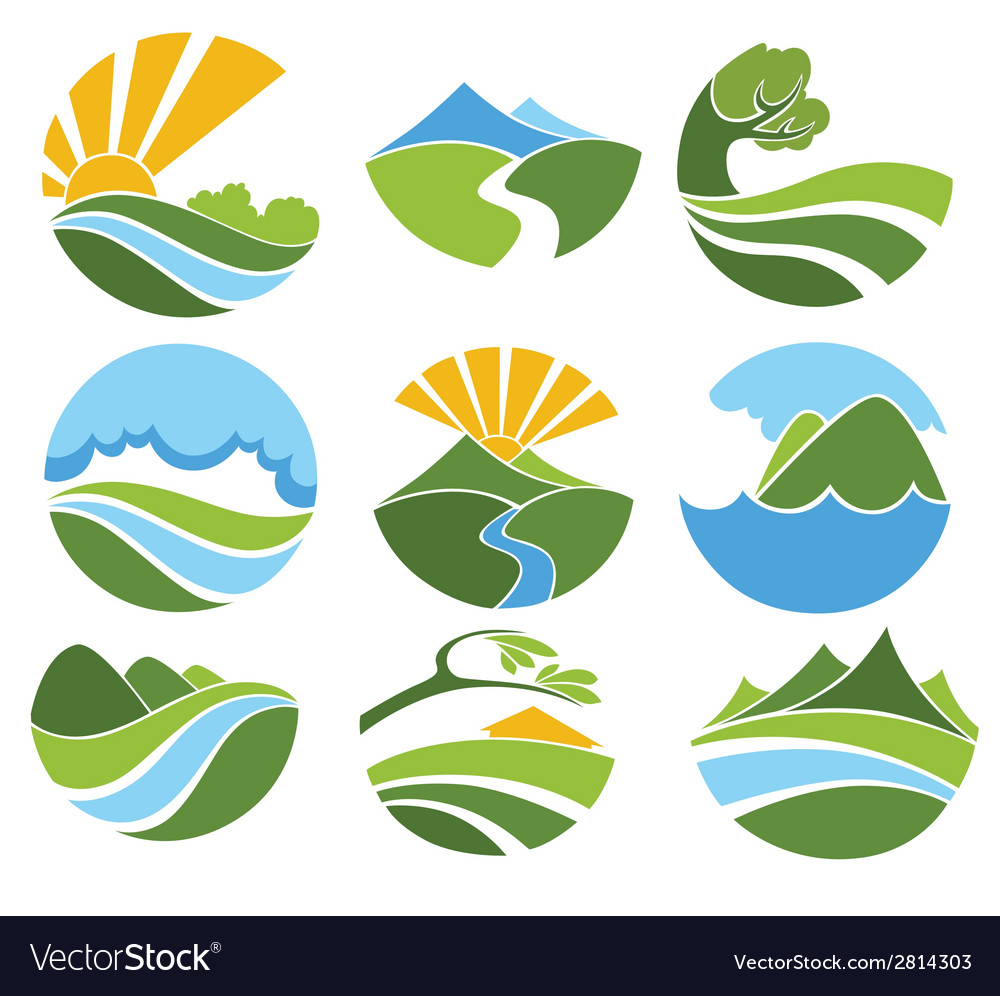 Nature emblems vector | Price: 1 Credit (USD $1)