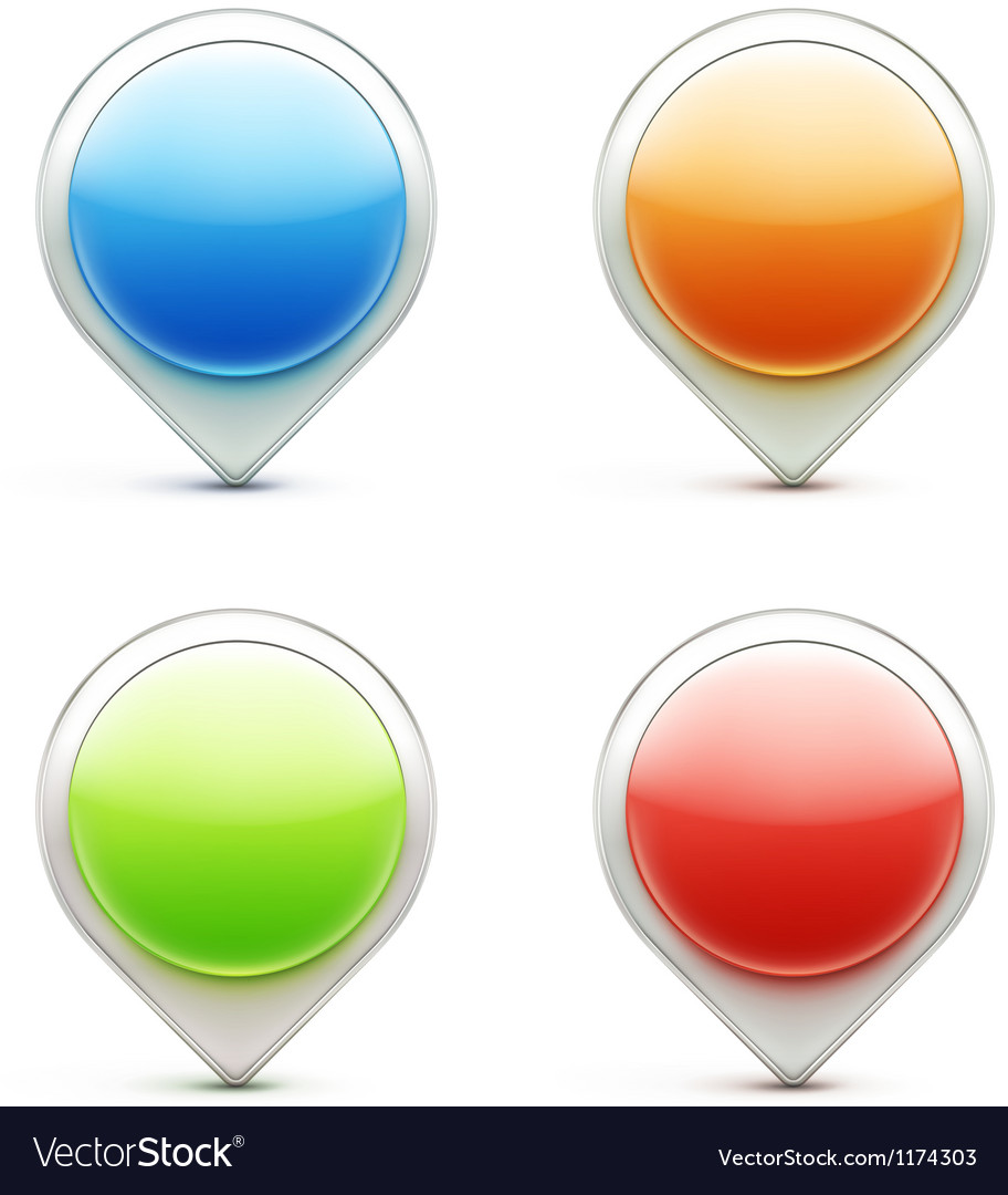 Pointer icons vector | Price: 1 Credit (USD $1)