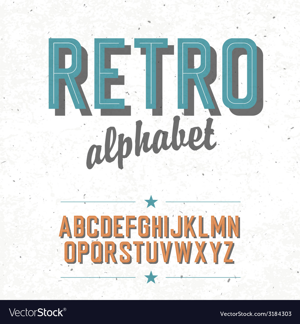 Retro alphabet vector | Price: 1 Credit (USD $1)
