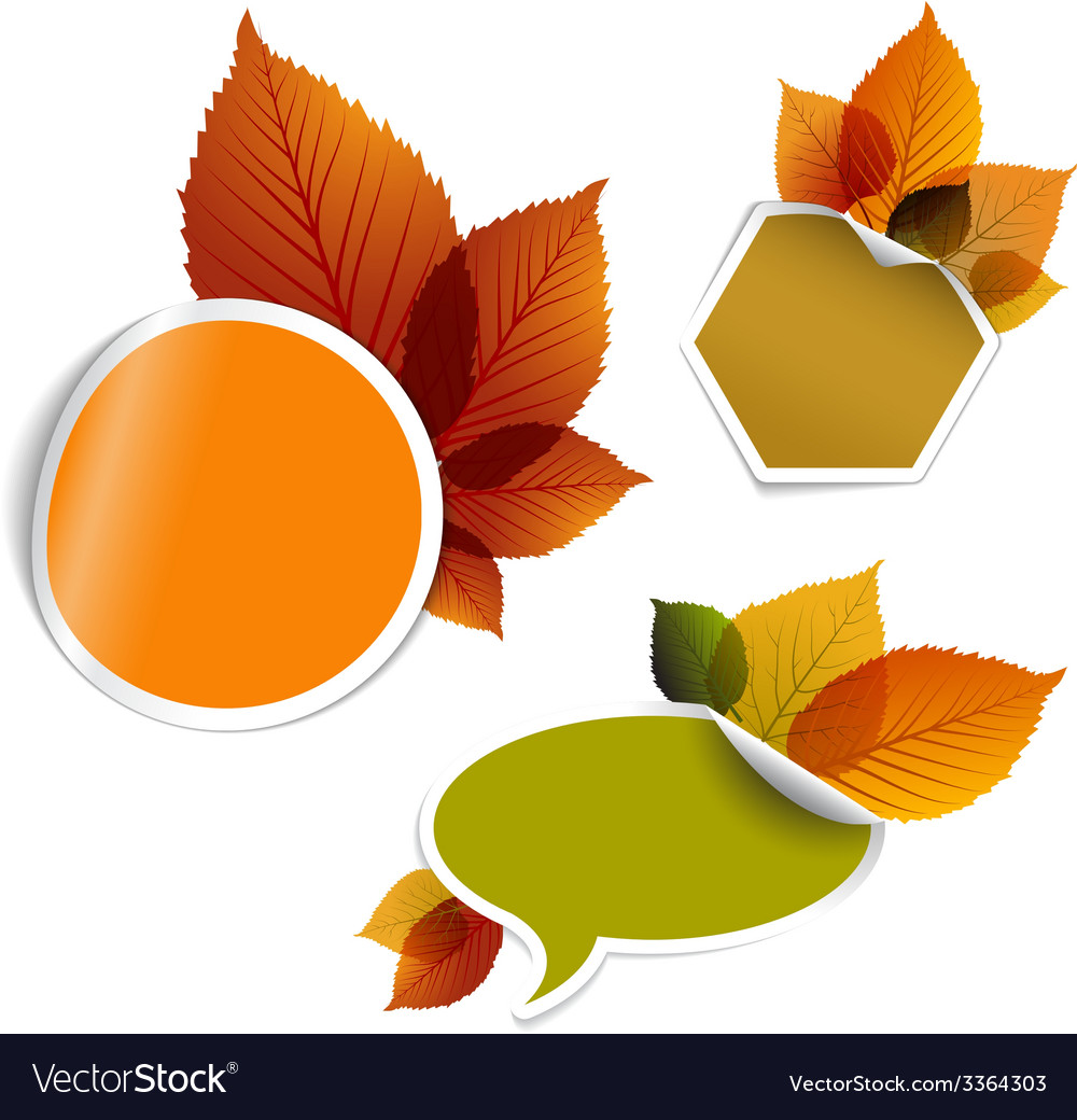 Set of autumn discount tickets labels stamps vector | Price: 1 Credit (USD $1)